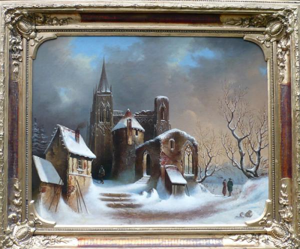 Коварт. Зимний пейзаж  19 век,